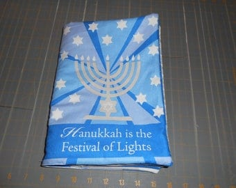 Hanukkah is the Festival of Lights Quiet Soft Cloth Baby Toddler Story Book Handmade Ready to Read