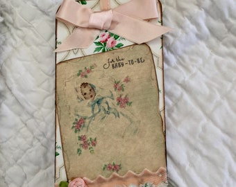 Vintage Baby Girl Tag