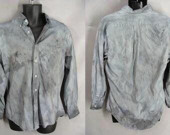 Men's Zombie Shirt. BLOOD OPTIONAL. Post Apocalyptic. Zombie Halloween Costume. The Walking Dead Costume. Vampire Werewolf Costume. size M