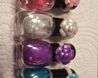 the prime collection: glamped up rainbow - a set of 6 mini nail polishes