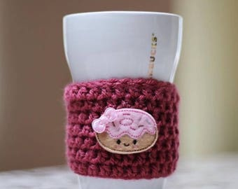 Donut Cup Cozy/ reusable eco-friendly coffee sleeve