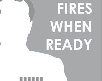 """Star Wars 8x8 print - Grand Moff Tarkin - """"Fires When Ready"""""""