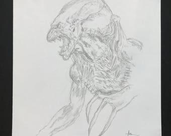 Original Pumpkin Head Sketch