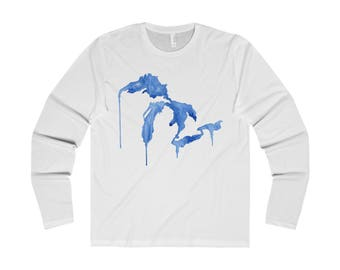 Great Lakes Long Sleeve T-Shirt, Great Lakes Tee, Great Lakes Apparel, Great Lakes Clothing, Great Lakes Shirt, Midwest T-Shirt, Michigan