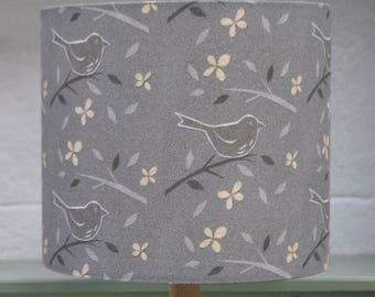 Blackbird silk lampshade