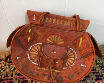 Vintage Moroccan style intricate detail ethnic purse bohemian bag