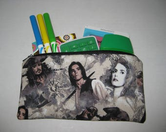 Pirates Of The Caribbean Zipper Pencil Case Or Cosmetic Case