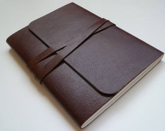 Leather Sketchbook Travel Journal Leather Journal Leather Book. Rich Chestnut Brown with a Lovely Grain.