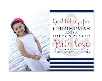 Nautical Christmas Photo Card