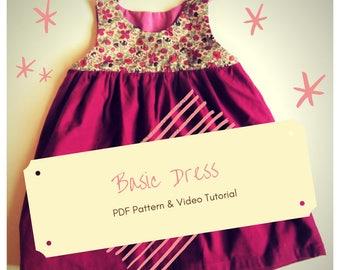 Basic Dress - PDF Pattern and Video Tutorial