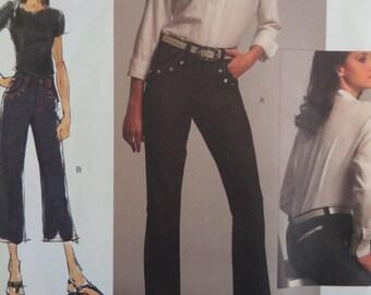 BOOT LEG JEANS Pattern • Vogue 1034 • Miss Sizes • Straight Leg Jeans • French Cut Jeans • Below Waist • Modern Patterns • WhiletheCatNaps
