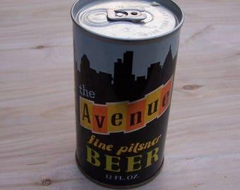 Vintage AVENUE Pilsner Beer Can, Steel Tab Top Beer Can, August Schell Brewing, New Ulm, Minn. ,Ultra Clean Can