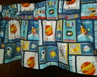 """ROCKET Print Valance or Panel  40"""" x 12"""" 14"""" 18"""" 24' 32""""  Lined or Unlined"""