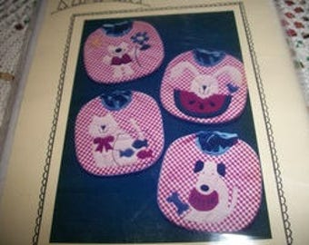 The Village Peddler Pattern Co.~Baby Bibs-Let's Eat! Pattern