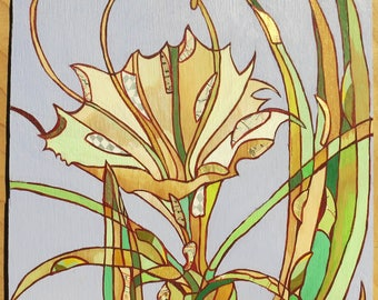 Cahaba lily panel painting 91