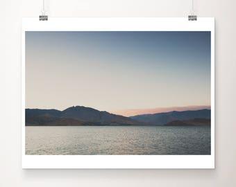 lake isabella photograph mountains photograph sunset photograph california photograph lake print california print mountains print