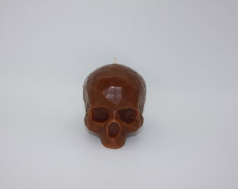 Snickerdoodle skull geometric bees wax candle 10oz max scent