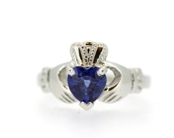 Claddagh Ring heart shape opal