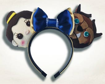 Tsum Tsum Beauty and Beast Mouse Ears w/ Bow