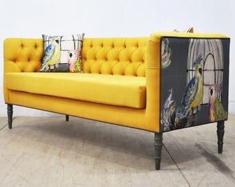 "Loveseat - yellow ""3 seater sofa"""