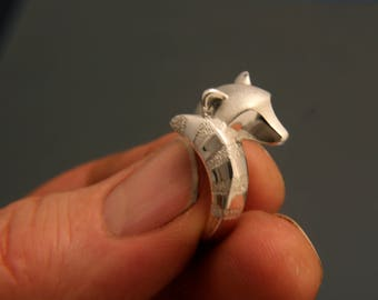 silver raccoon  ring