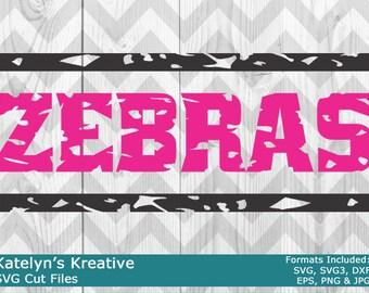 Zebras Distressed SVG Files