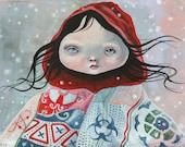 "Limited edition Giclee print ""DAKOTA 02"" pop surrealism, popart, lowbrow art,"