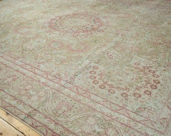 9x12.5 Vintage Distressed Meshed Carpet