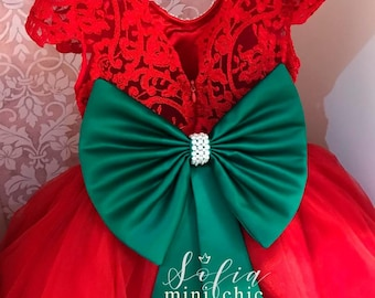 Pageant Red lace dress Princess Dress Flower Girl Dress Transparent Back Dress