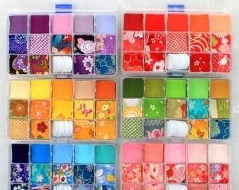 140pcs, supply for Chirimen fabric 3cm square, Kanzashi hair accessory, material for DIYJapanese Sakura Kanzashi, tutorial