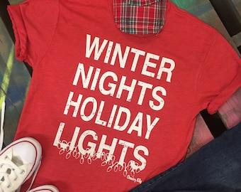 NEW Christmas soft tee Winter Nights Holiday Lights