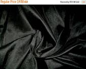 15% off on Fat quarter 100 percent pure dupioni silk  in black