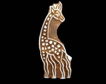 Giraffe animal Design hand carved Indian block printing stamp/tjap/textile pottery stamp/wooden  block for printing on paper and fabric
