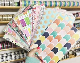 Grab Bag A5 Size Random Set of 5 Laminated Dashboards A5 Filofax Large Kikki k Planner Recollections Planner