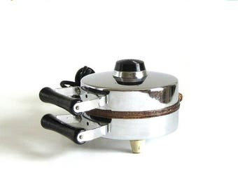 SALE Grossag Pizzelle Maker Type 1140 Made in Germany Chrome Pizzelle Iron