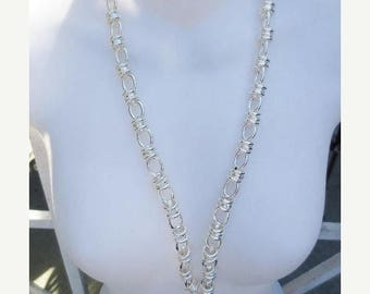 30% OFF SALE Long Chain Silver Plated Finished Jewelry Supplies