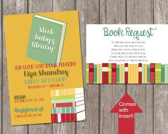Book baby shower invitation / baby book shower invitation / bring a book instead of a card / book request baby shower / bring a book shower