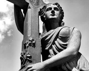 Cemetery Gravestone Religious Art Monument Photo Print