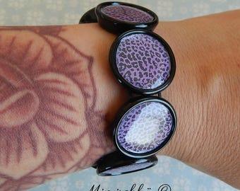 bracelet purple leopard