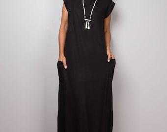 Black dress, black maxi dress, T shirt dress, turtleneck dress, tube dress, long black dress : Urban Chic Collection No.34