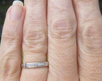 Art Deco Very Nice diamond wedding band or stacker band 5 points total weight of diamonds