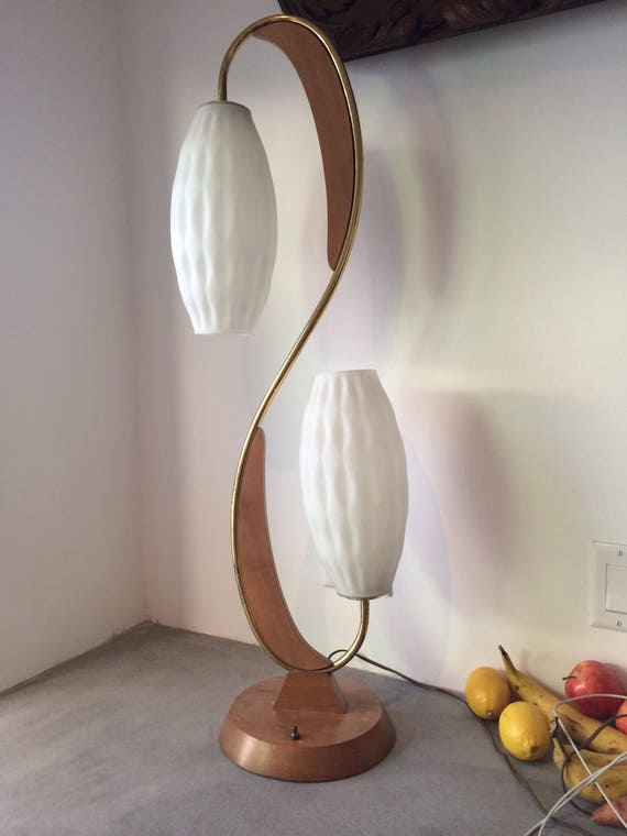 Vintage Mid Century S shaped Lamp
