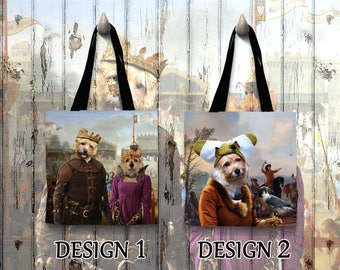 Norwich Terrier Dog Tote Bag Art Custom Dog Terrier Portrait Personalized Dog Tote Bag Perfect DOG LOVER Gift for Her Gift for Him
