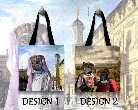 French Bulldog Tote Bag/French Bulldog Portrait/French Bulldog Art/Personalized Dog Tote Bag/Custom Dog Portrait by Nobility Dogs