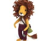 Ludwig Lionheart, Lion kit, lion doll, felt lion