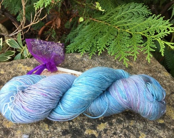 """Fingering weight weight silk/seacell  yarn """"lavenders blue """""""