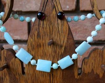 Light Blue Agate Necklace