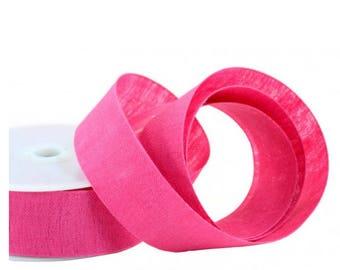 "Ribbon Linen Tape Fuchsia 1"" width 10 yds"