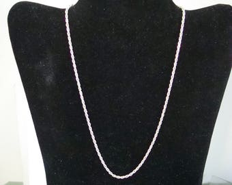 17  inch STERLING  CHAIN  NECKLACE, lobster claw clasp. Please see photos and description area