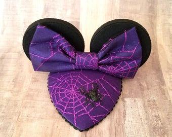 Sparkling Spider Halloween FascinEar™ Mouse Ear Fascinator